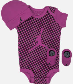 Girls' Infant Air Jordan Checkered 3-Piece Set
