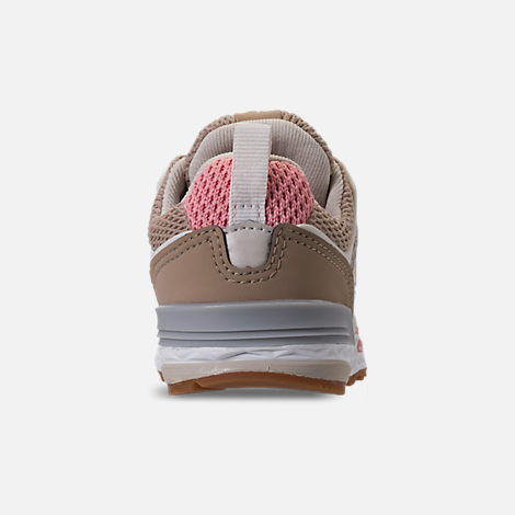 Back view of Girls' Toddler New Balance 574 Sport Casual Shoes in Hemp/Dusted Peach