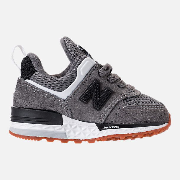 Right view of Boys' Toddler New Balance 574 Sport Casual Shoes in Castlerock/Black