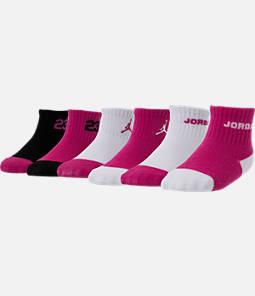 Infant Jordan Legend Quarter Socks 6-Pack
