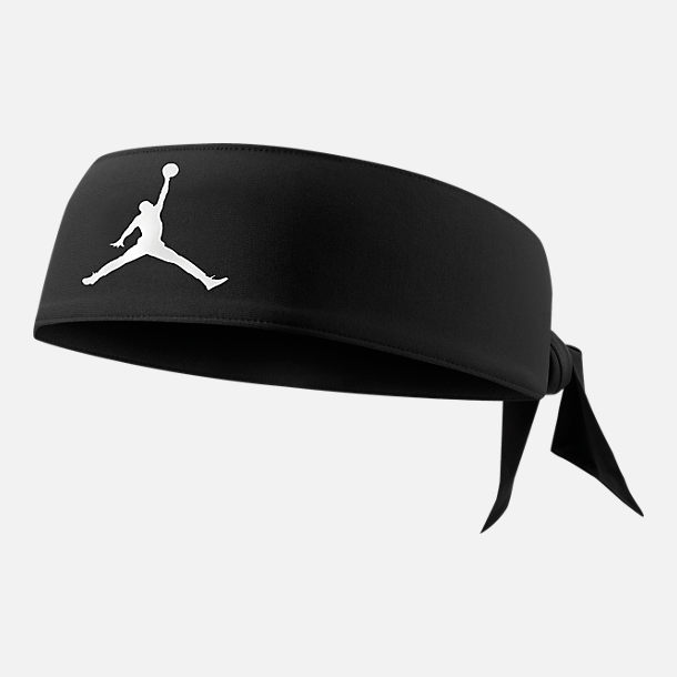 Front view of Jordan Jumpman Head Tie in Black/White