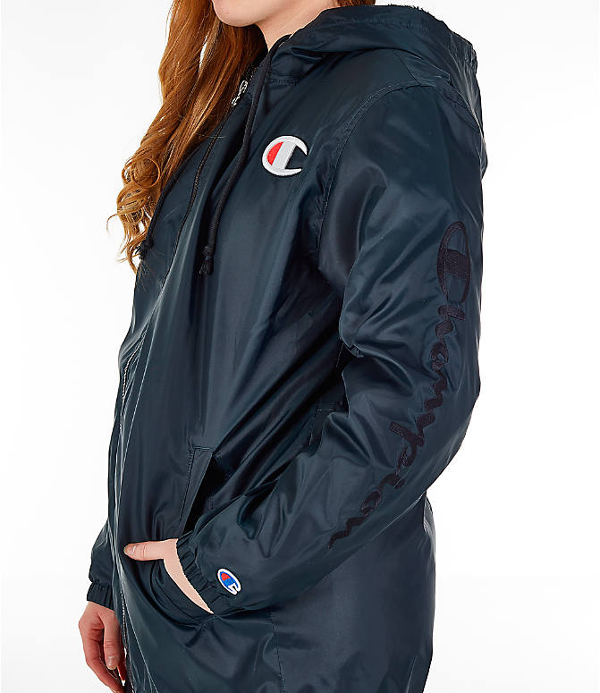 Detail 2 view of Women's Champion Sherpa Lined Stadium Jacket in Black