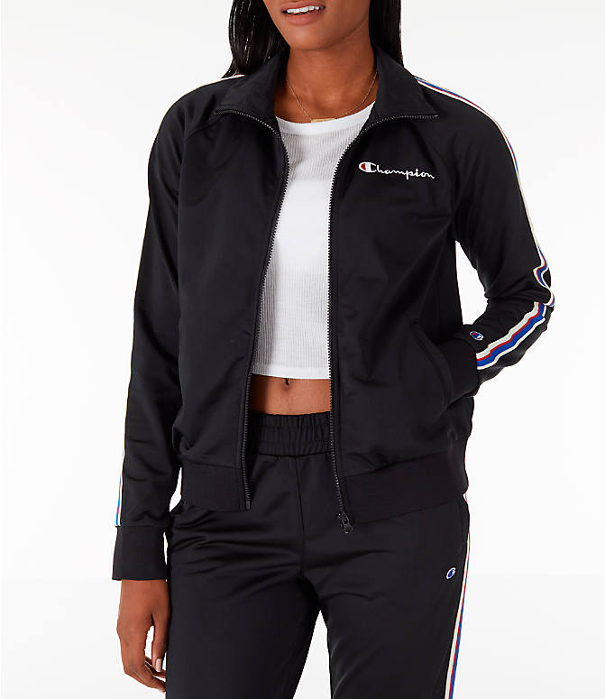 Front view of Women's Champion Track Jacket in Black