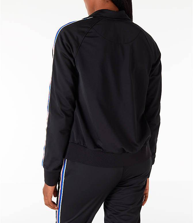 Back Left view of Women's Champion Track Jacket in Black