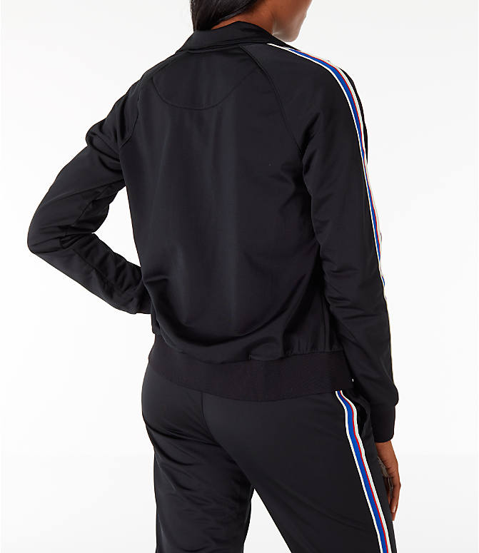 Back Right view of Women's Champion Track Jacket in Black
