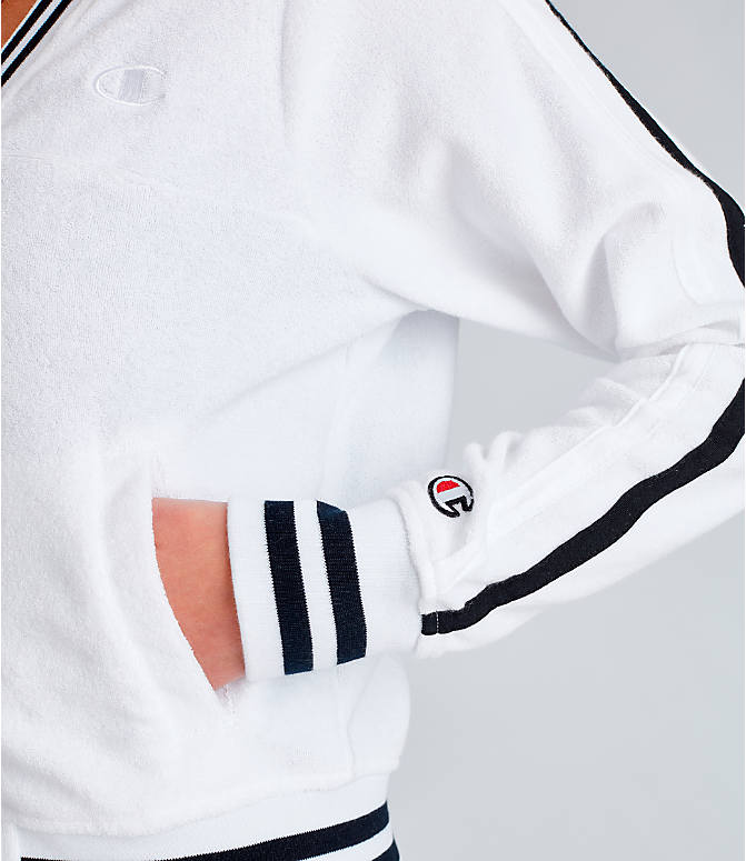 Detail 1 view of Women's Champion Life Warm-Up Terry Track Jacket in White