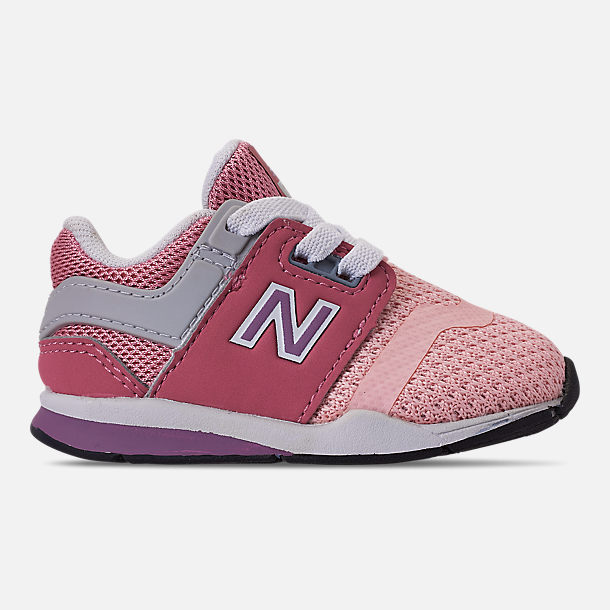Right view of Girls' Toddler New Balance 247 Casual Shoes in Himalayan Pink/Pink/White