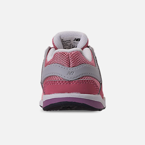 Back view of Girls' Toddler New Balance 247 Casual Shoes in Himalayan Pink/Pink/White