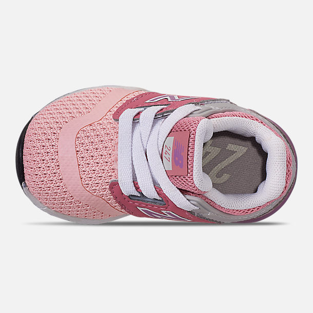 Top view of Girls' Toddler New Balance 247 Casual Shoes in Himalayan Pink/Pink/White