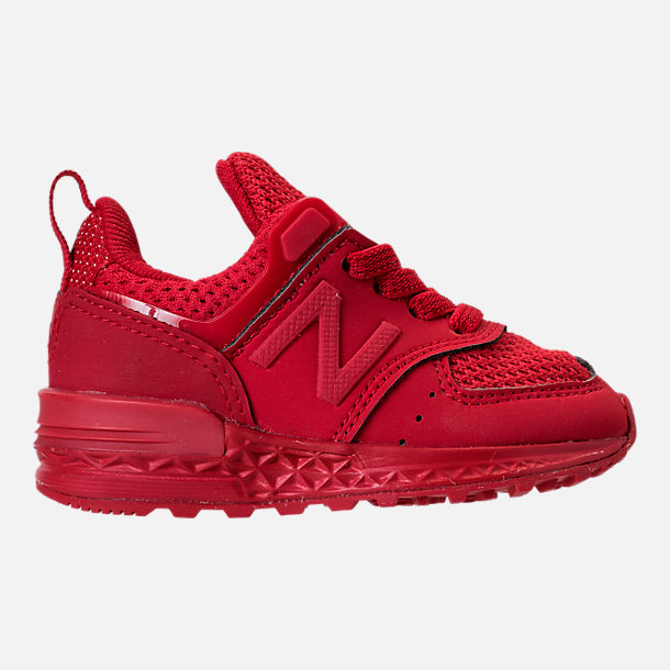 Right view of Boys' Toddler New Balance 574 Sport Casual Shoes in Red/Red