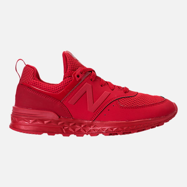 Right view of Boys' Grade School New Balance 574 Sport Casual Shoes in Red/Red