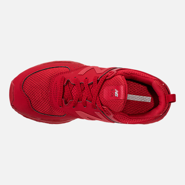 Top view of Boys' Grade School New Balance 574 Sport Casual Shoes in Red/Red