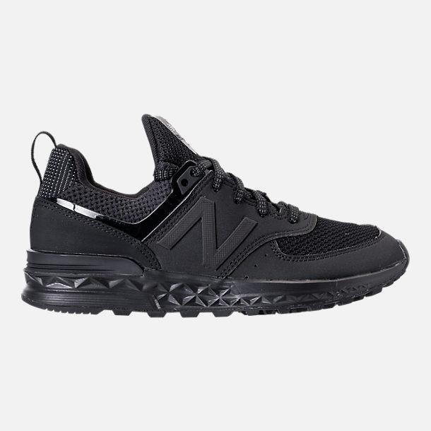 New Balance 574 Boys' Preschool Black/White Running Shoes 7944
