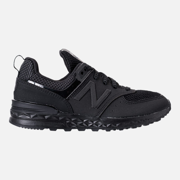 Right view of Boys' Preschool New Balance 574 Sport Casual Shoes in Black/Black