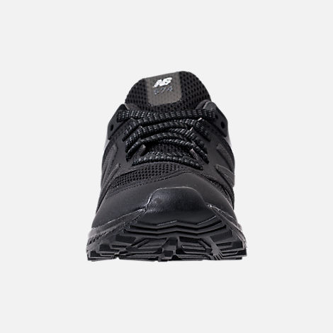 Front view of Boys' Preschool New Balance 574 Sport Casual Shoes in Black/Black