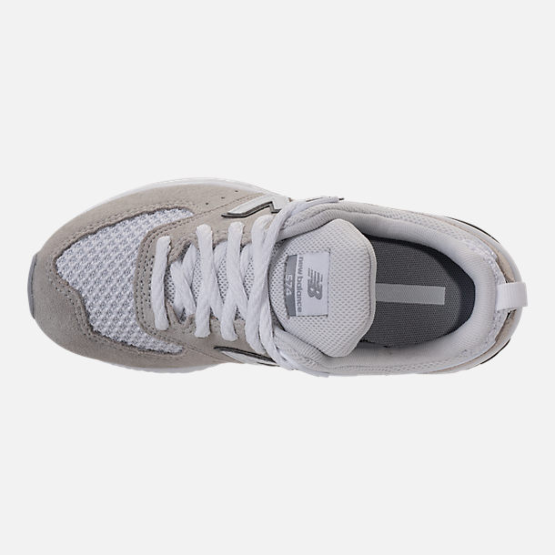 Top view of Boys' Grade School New Balance 574 Sport Casual Shoes in White/Grey