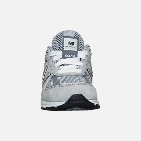 Front view of Boys' Toddler New Balance 990 V4 Running Shoes in Grey/Grey
