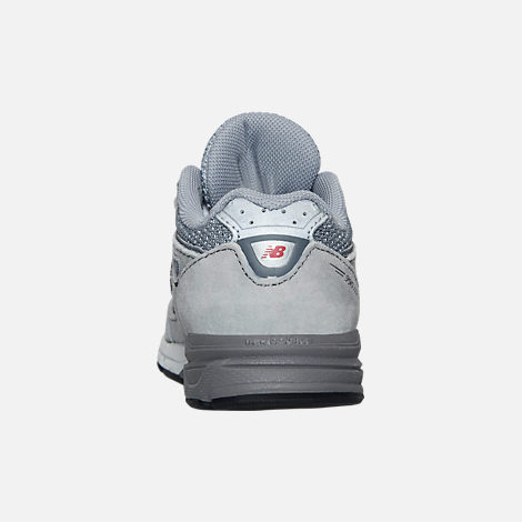 Back view of Boys' Toddler New Balance 990 V4 Running Shoes in Grey/Grey