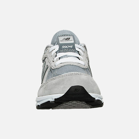 Front view of Boys' Little Kids' New Balance 990 V4 Running Shoes in Grey/Grey