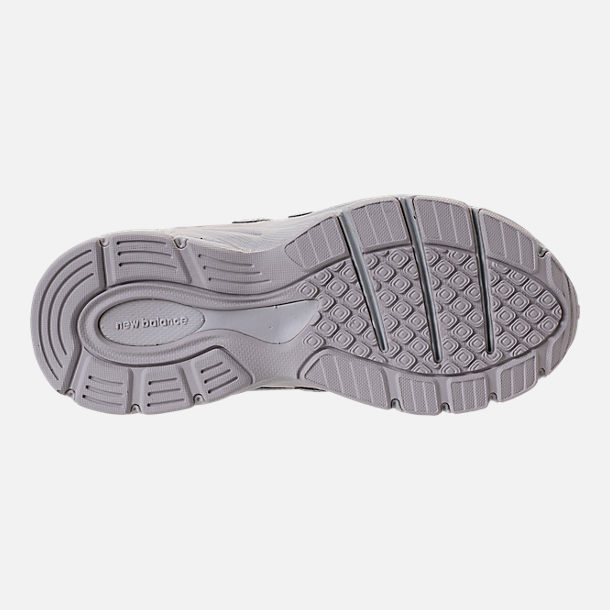 Bottom view of Girls' Big Kids' New Balance 990 V4 Running Shoes in Grey/White