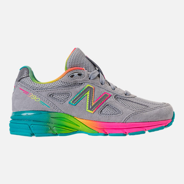 Right view of Girls' Big Kids' New Balance 990 V4 Running Shoes