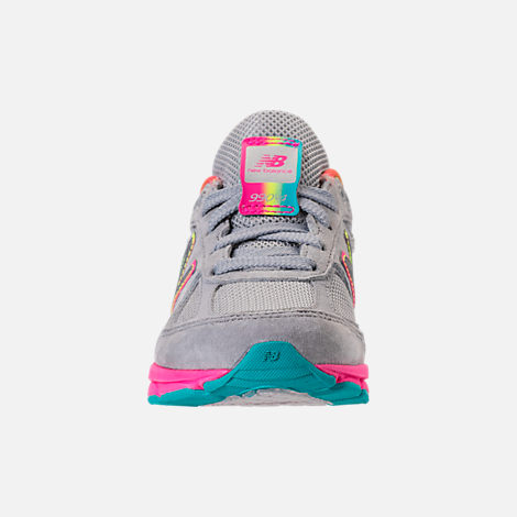 Front view of Girls' Big Kids' New Balance 990 V4 Running Shoes