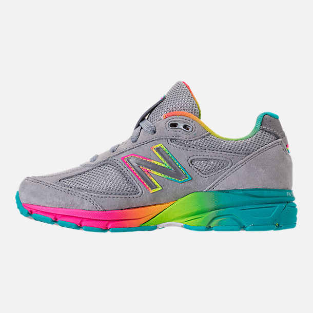 Left view of Girls' Big Kids' New Balance 990 V4 Running Shoes