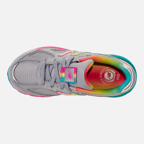 Top view of Girls' Big Kids' New Balance 990 V4 Running Shoes