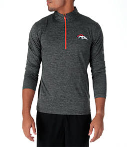 Men's Majestic Denver Broncos NFL Intimidating Half-Zip Training Shirt