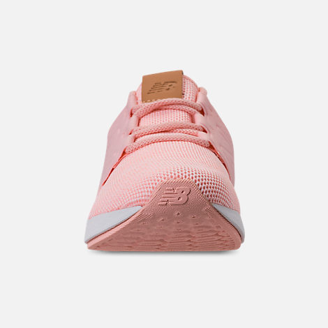 Front view of Girls' Grade School New Balance Fresh Foam Cruz V2 Running Shoes in Pink