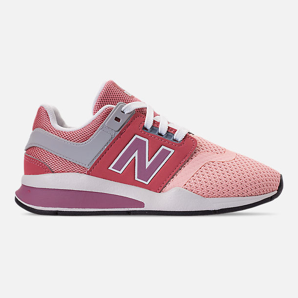 Right view of Girls' Little Kids' New Balance 247 Casual Shoes in Himalayan Pink/White
