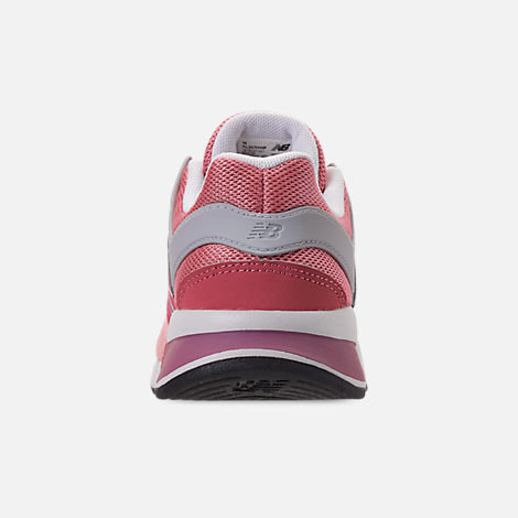 Back view of Girls' Little Kids' New Balance 247 Casual Shoes in Himalayan Pink/White