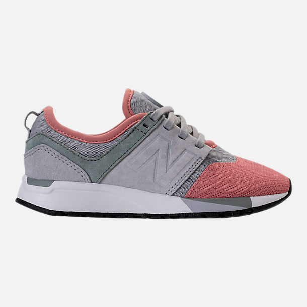Right view of Boys' Grade School New Balance 247 Casual Shoes in Monnbeam/Silver/Dusted Peach