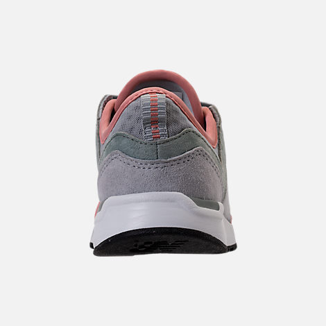 Back view of Boys' Grade School New Balance 247 Casual Shoes in Monnbeam/Silver/Dusted Peach
