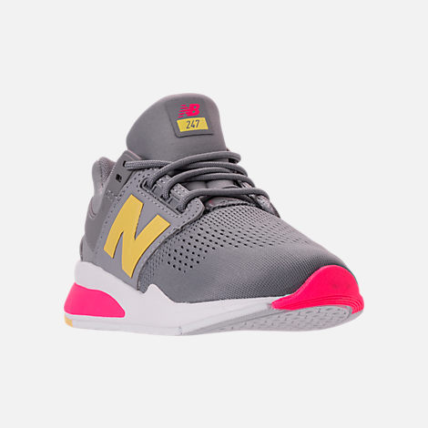 Three Quarter view of Girls' Grade School New Balance 247 Casual Shoes