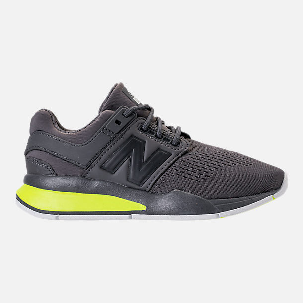 Right view of Boys' Big Kids' New Balance 247 Casual Shoes in Magnet/Solar Yellow