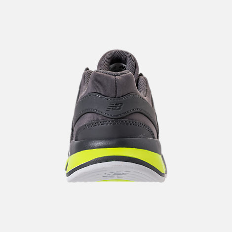 Back view of Boys' Big Kids' New Balance 247 Casual Shoes in Magnet/Solar Yellow