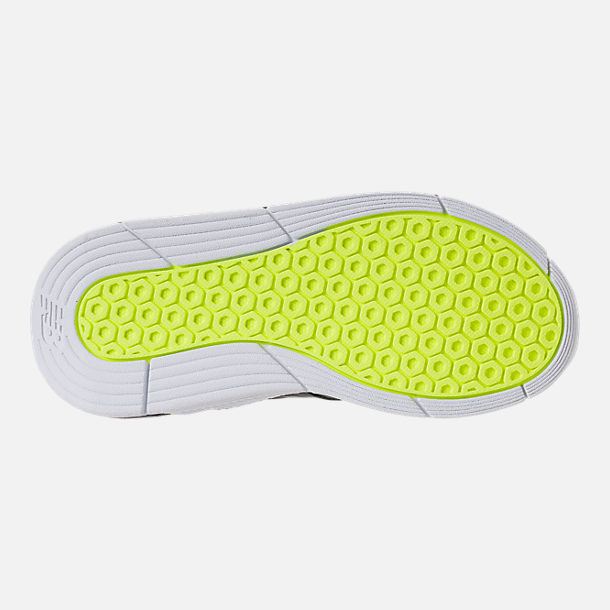 Bottom view of Boys' Big Kids' New Balance 247 Casual Shoes in Magnet/Solar Yellow