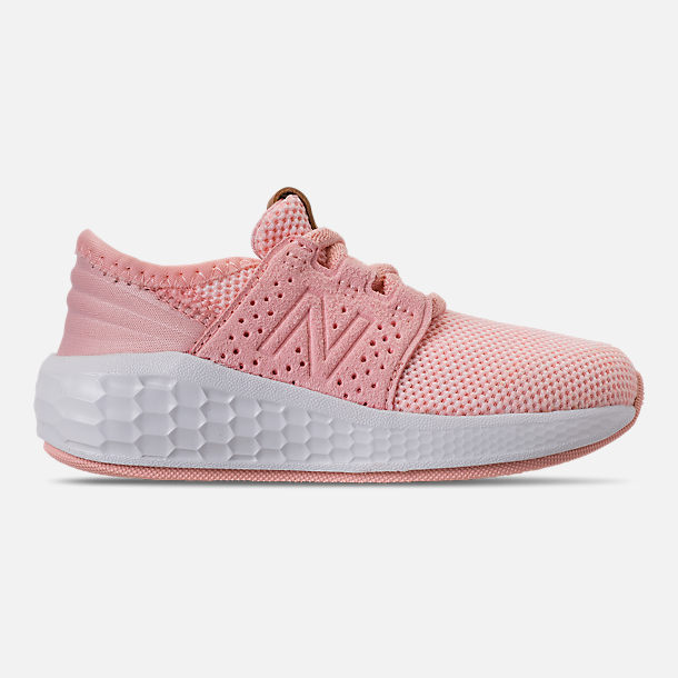 Right view of Girls' Toddler New Balance Cruz Sport Running Shoes in Pink