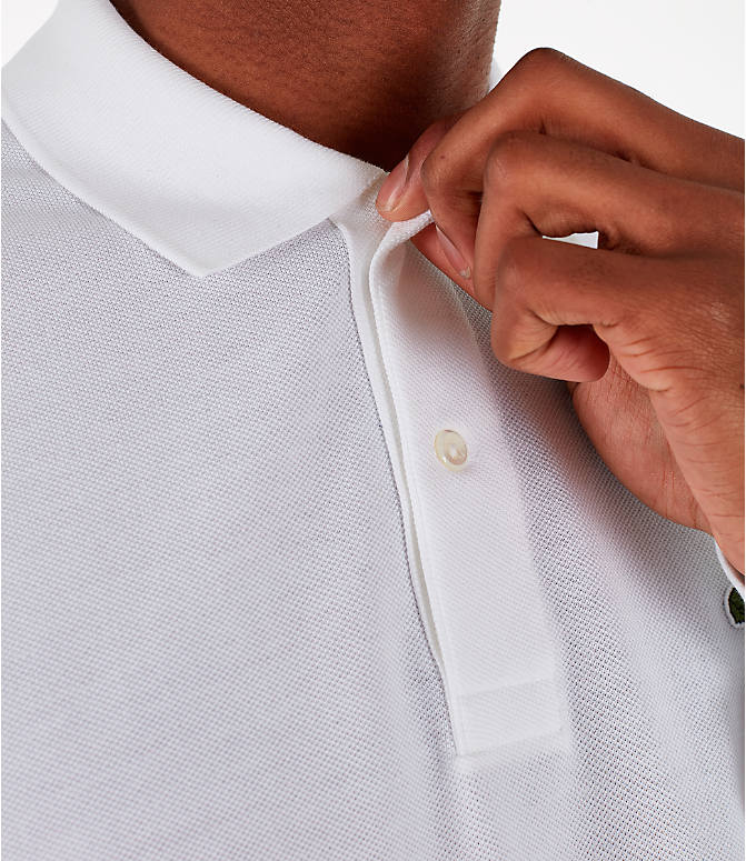 Detail 2 view of Men's Lacoste Classic Pique Polo Long-Sleeve Shirt in White