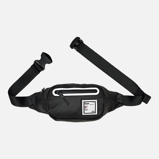 Front view of Fila Riley Fanny Pack in Black