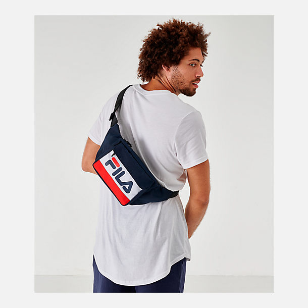 Alternate view of Fila Lindon Waist Pack in Navy/White/Red