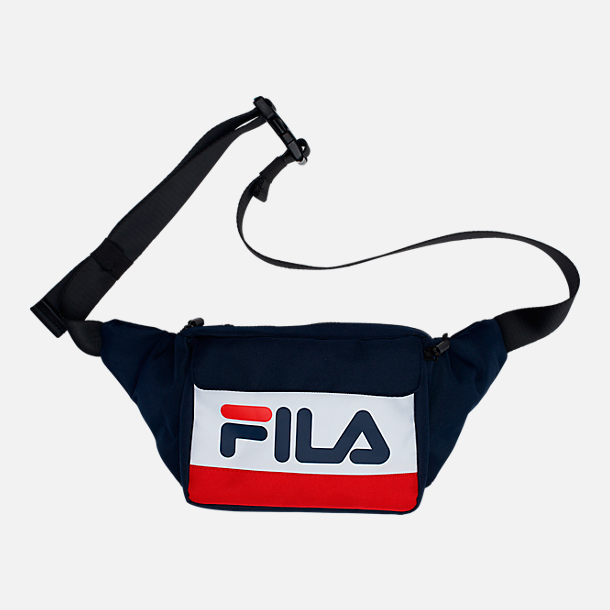 Front view of Fila Lindon Waist Pack in Navy/White/Red