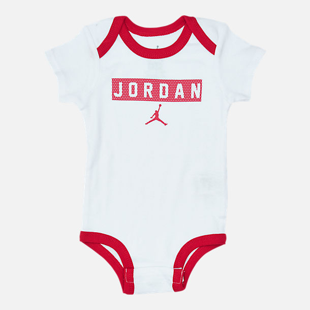 Alternate view of Infant Air Jordan Jersey Bodysuit 3-Piece Box Set in White/Red