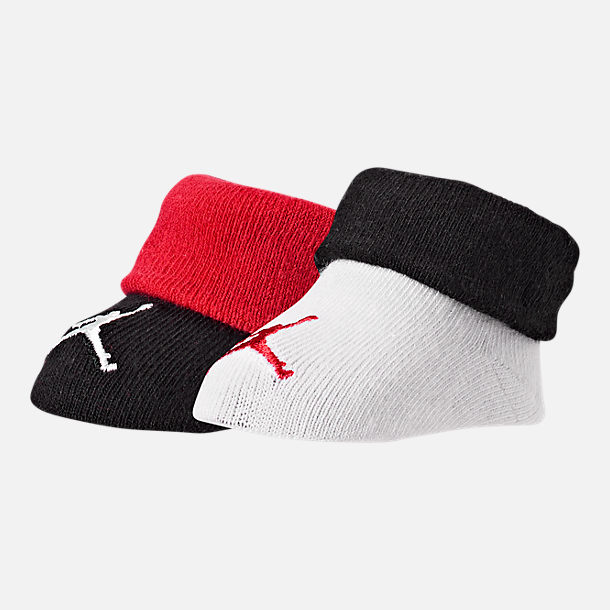 Front view of Infant Nike 2-Pack Bootie Set in White/Black