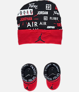 Infant Air Jordan Greatness Hat and Bootie Set