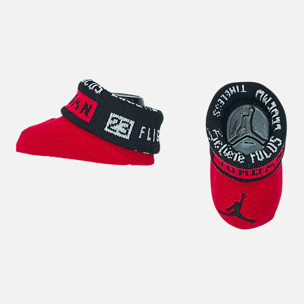 Alternate view of Infant Air Jordan Greatness Hat and Bootie Set in Red/Black