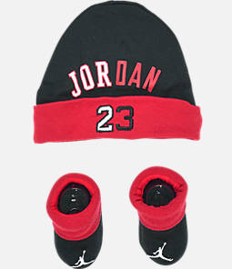 Infant Air Jordan History of Flight Hat and Bootie Set 08b949df844