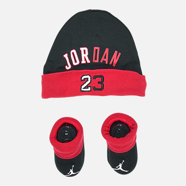 dfc706b0192039 shopping nike jordan hats youth and infant 6 pieces a85a8 b1db8  buy front  view of infant air jordan history of flight hat and bootie set in red