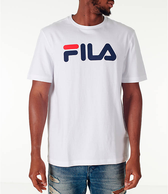 Front view of Men's Fila Logo T-Shirt in White